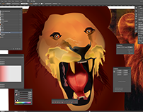 Lion / Personal Project (Mesh Tool Exploration)