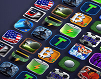 3D App icons Collection 2017