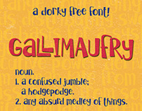 Gallimaufry - a dorky free font!
