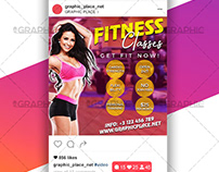 Fitness Classes – Animated Flyer PSD Template
