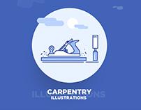 icon, illustration, web, woodwork, Carpentry