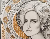 Illustration. Keira Knightley