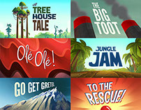 Justin Time Title Cards