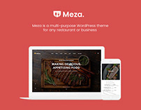 Meza WordPress Restaurant Theme for Coffee Shop