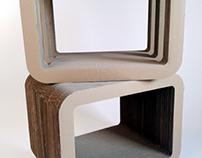 Stoliki lub półki meble z tektury / Table or shelfs fro
