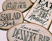 Hand Lettered Wedding Props for Howe + Sherin