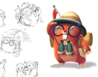 Character design for The Moleys game