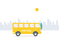 Intrcity moving bus