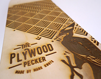'The PlyWoodpecker' laser engraved skateboard
