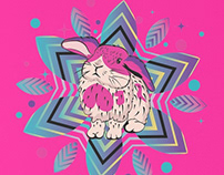 Cute bunny with patterns