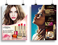 Promo materials for L'Oreal