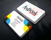 New Colorful & Modern Business Card Design Idea.