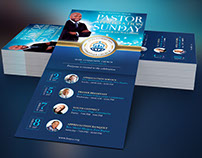 Community Pastor Appreciation Rack Card Template