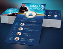 Community Pastor Appreciation Rack Card Template