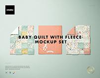 Baby Quilt with Fleece Mockup Set