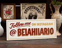 BELA HILÁRIO • SIGN PAINTING
