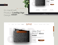 Product Landing Page Concept for HardGraft