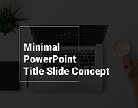 Minimal PowerPoint Presentation Title Slide Concept