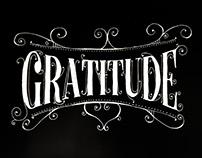 Gratitude Hand Typography