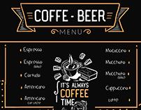 Coffe- Beer menu