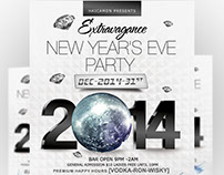 New Year's Extravegas Party Flyer