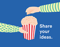 Share your ideas as popcorn