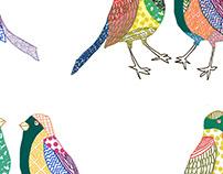 Oiseaux à motifs