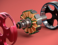 Emax Motor 3D Product Visualization & Animation