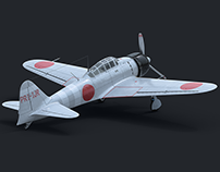 A6M2 ZERO - 3D Modeling