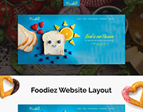 Fooziez Website Layout