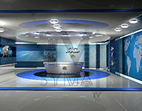 virtual set 3d news