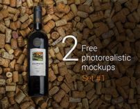 Free Wine Mockups: Part #01