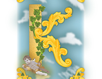 Rococo inspired iluminated letter