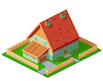Isometric house for game