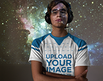 eSports Jersey - Young Man Against a Space Projection