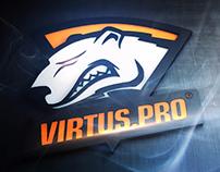 Virtus.PRO Team site deisgn