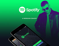 Spotify - UI redesign concept
