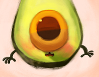 Little floating avocado