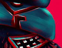 """Poster: """"Playing with the devil"""" (Igraszki z diabłem)."""