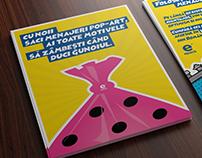 Pop-Art style flyer for epack