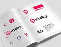 Etalky - Logo and Brand Guidelines Book Design