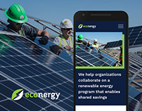 Econergy solar company Wordpress site