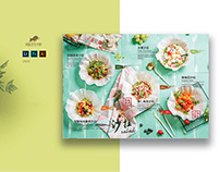 Print design of Menu for restaurant. Food photo, layout