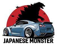 Nissan GTR vector print