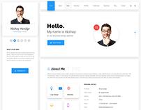 Hello - Resume, CV, vCard & Portfolio Material PSD