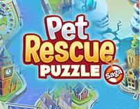 World Map Process - Pet Rescue Puzzle Saga