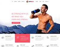 Gym Fitness PSD Template