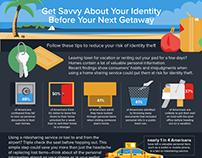 Lifelock Summer Getaway Tips Infographic