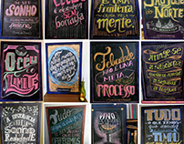 Lettering chalkboard
