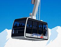 4 Vallees Ski Poster